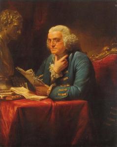 Benjamin Franklin at thought