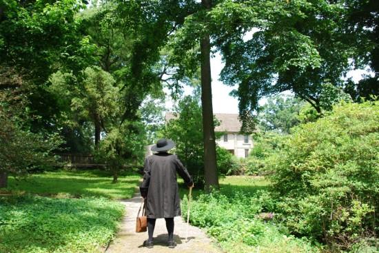 Walking up the Bartram's Garden path, Kirk R. Brown John Bartram