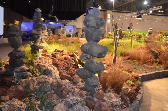 Stone totems to island gods.