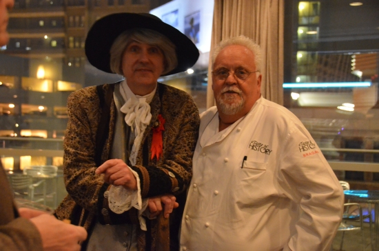 Kirk R. Brown, John Bartram, Chef Walter Staib, A Taste of History, Kimmel Center, Philadelphia PA